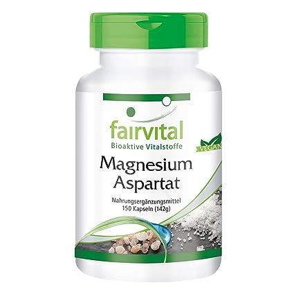 Aspartato de Magnesio - 1 mes - VEGAN - 150 cápsulas - mineral esencial