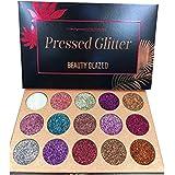 Babysbreath 15 Colores Sombra de ojos paleta brillo polvo metálico brillo altamente pigmentado maquillaje cosmético mineral conjunto