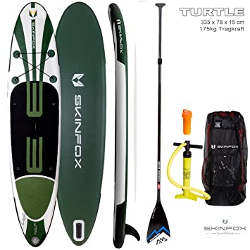 SKINFOX TURTLE Tabla de SUP CONJUNTO DE CARBONO Tablero de paddel sup