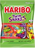 Haribo Gummi Candy, Twin Snakes Sweet & Sour, 5 oz. Bag (Pack of 12)