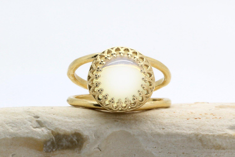 opal ring, quartz ring, gold ring, 14k solid gold ring, custom metal ring, personalized ring, custom jewelry