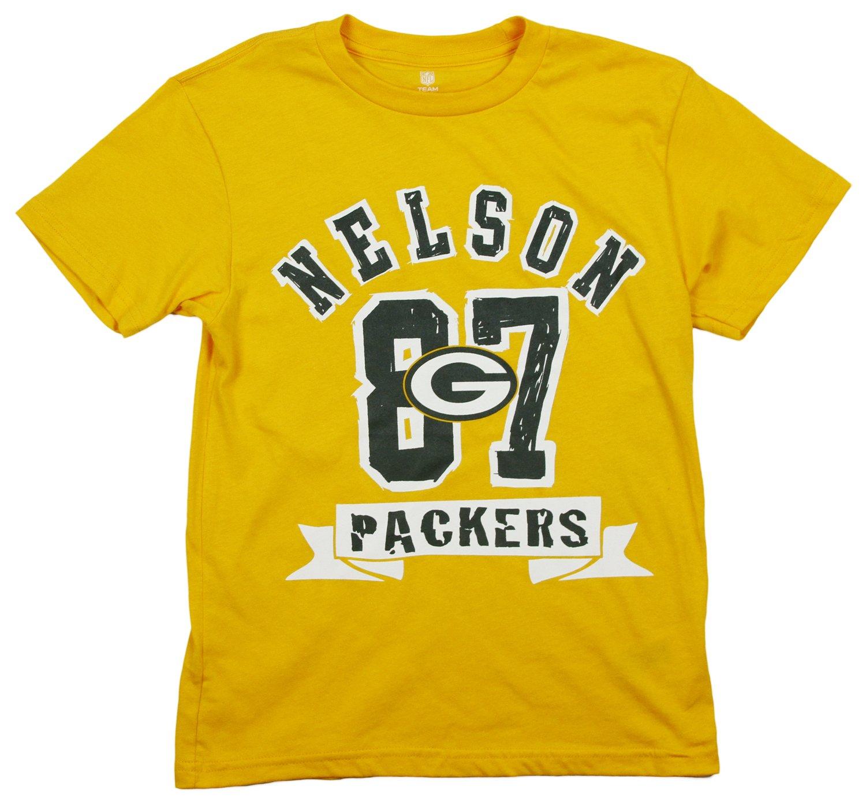 超話題新作 グリーンベイパッカーズJordy Nelson XX-Large # 87 # NFL Big Boys半袖Tシャツ、ゴールド XX-Large NFL (18) B00MBZ9YR2, セレブレザー:de19acfd --- a0267596.xsph.ru