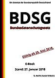 Bundesdatenschutzgesetz - BDSG - E-Book  - Stand: 27. Januar 2018