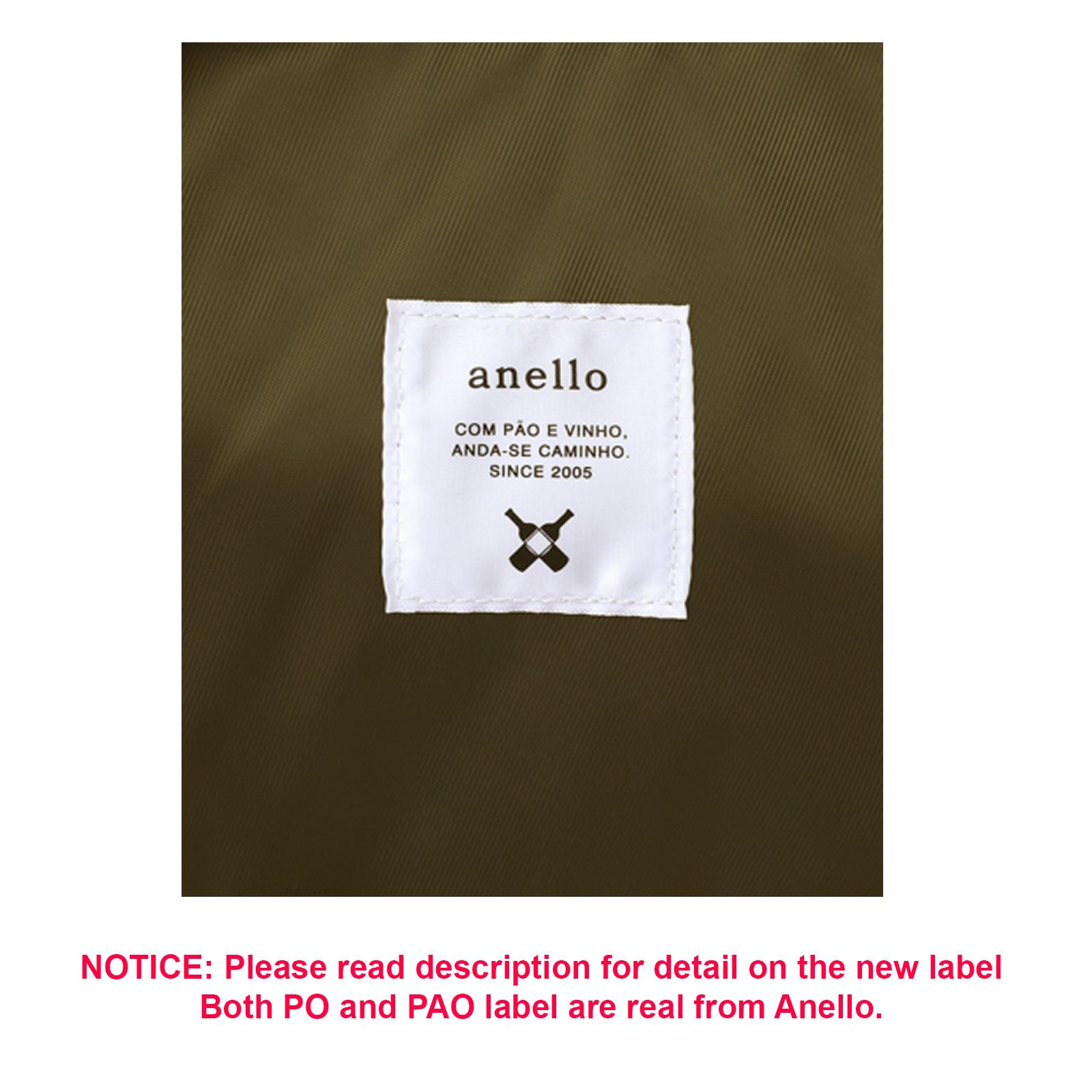 Anello Official Dark Grey Japan Fashion Shoulder Rucksack Backpack Casual Tablet Diaper Bag Unisex