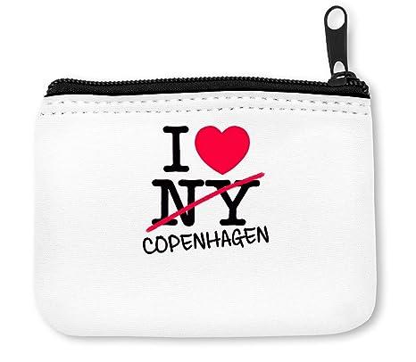 I Love Copenhagen Denmark Monedero de la Cremallera de la ...