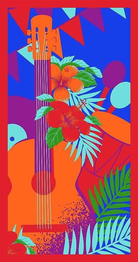 SANTENS – Toalla de Playa, Microfibra, Rojo, 90 x 170 cm