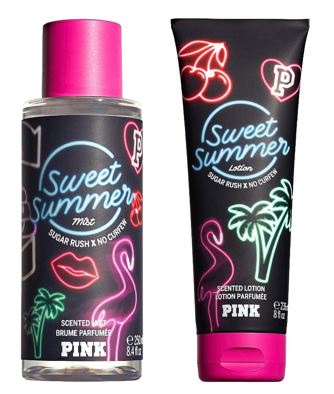 Victoria Secret Pink Summer Forever Scented Mist and Lotion Set (2PC) - 8.4 fl oz & 8 fl oz (Sweet Summer)