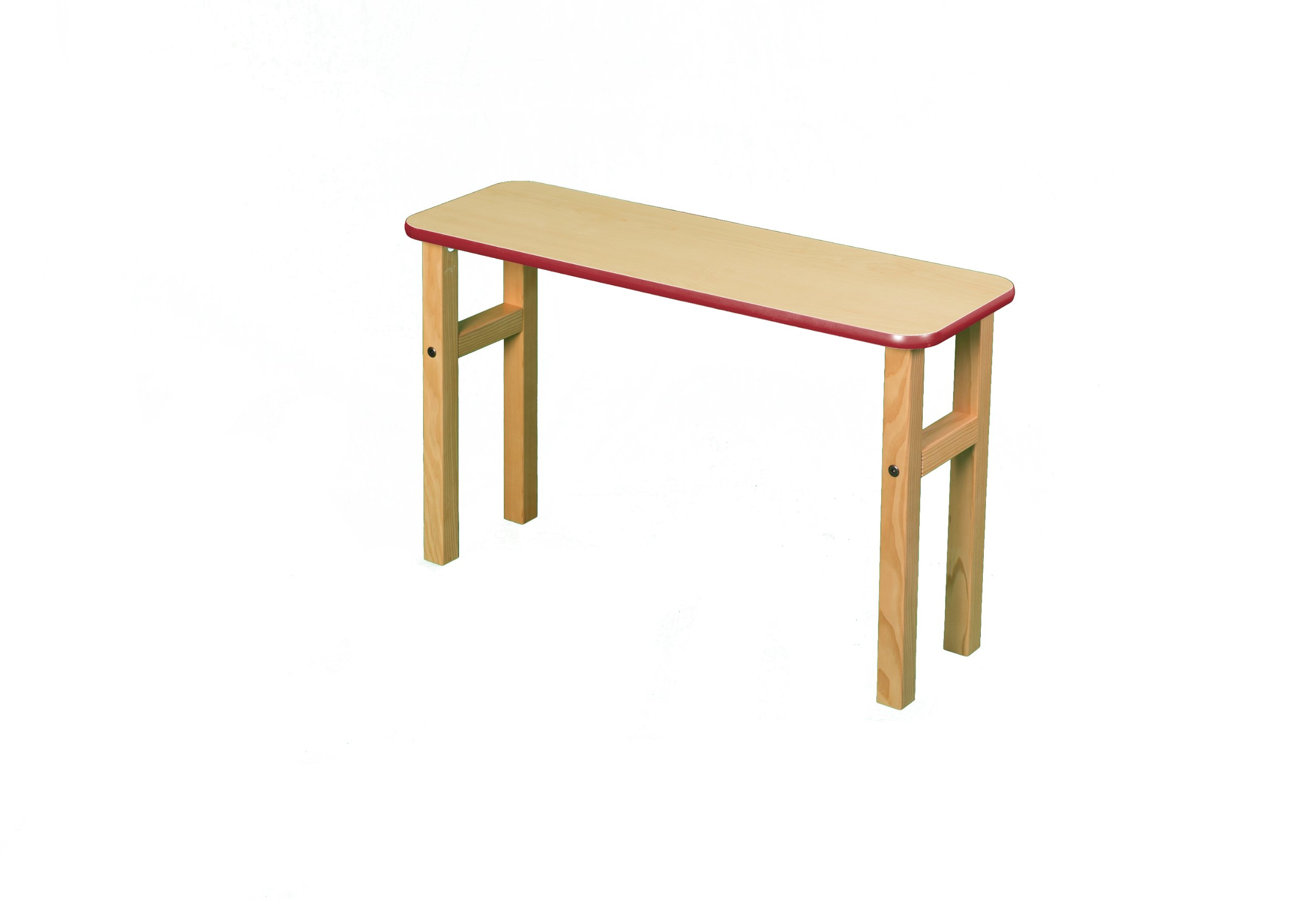Student Desk Hutch in Maple and Red