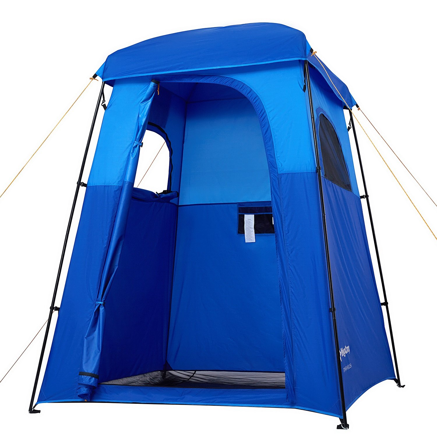 KingCamp Oversize Outdoor Easy Up Portable Dressing Changing Room Shower Privacy Shelter Tent (Blue) by KingCamp