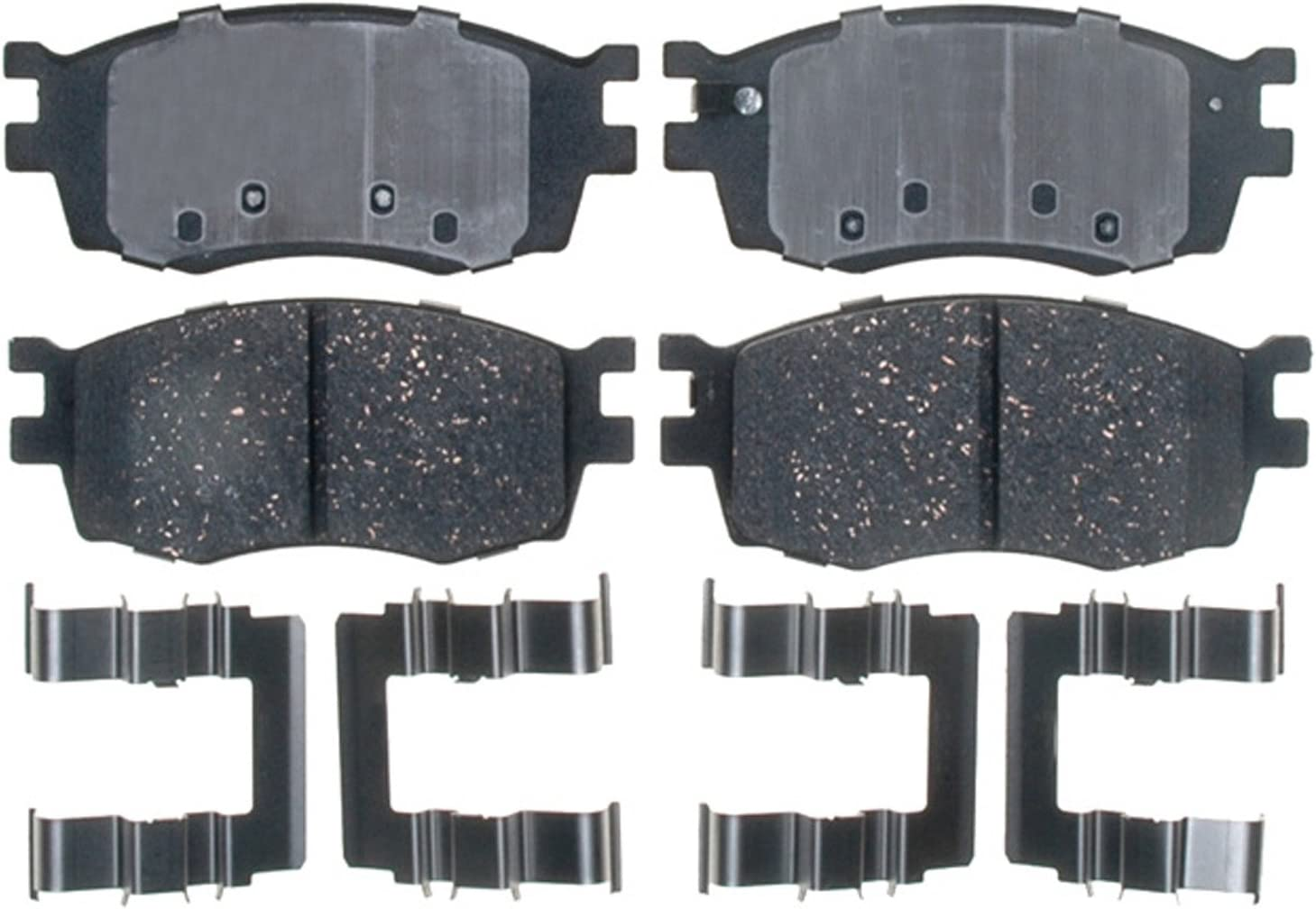 ACDelco 17D1576CH Professional Ceramic Front Disc Brake Pad Set