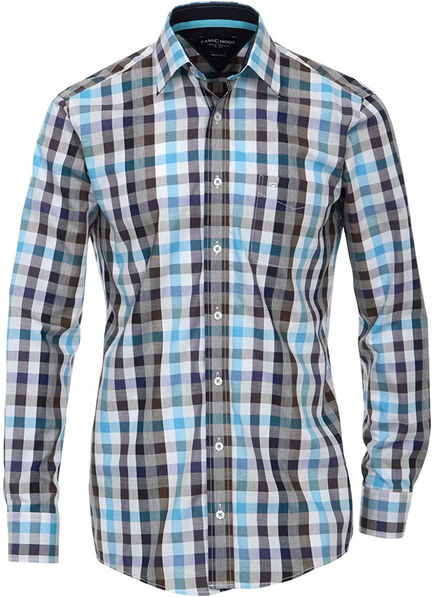 Casa Moda Camisa de Cuadros Azules-Grises-Marrones, 2xl-8xl ...