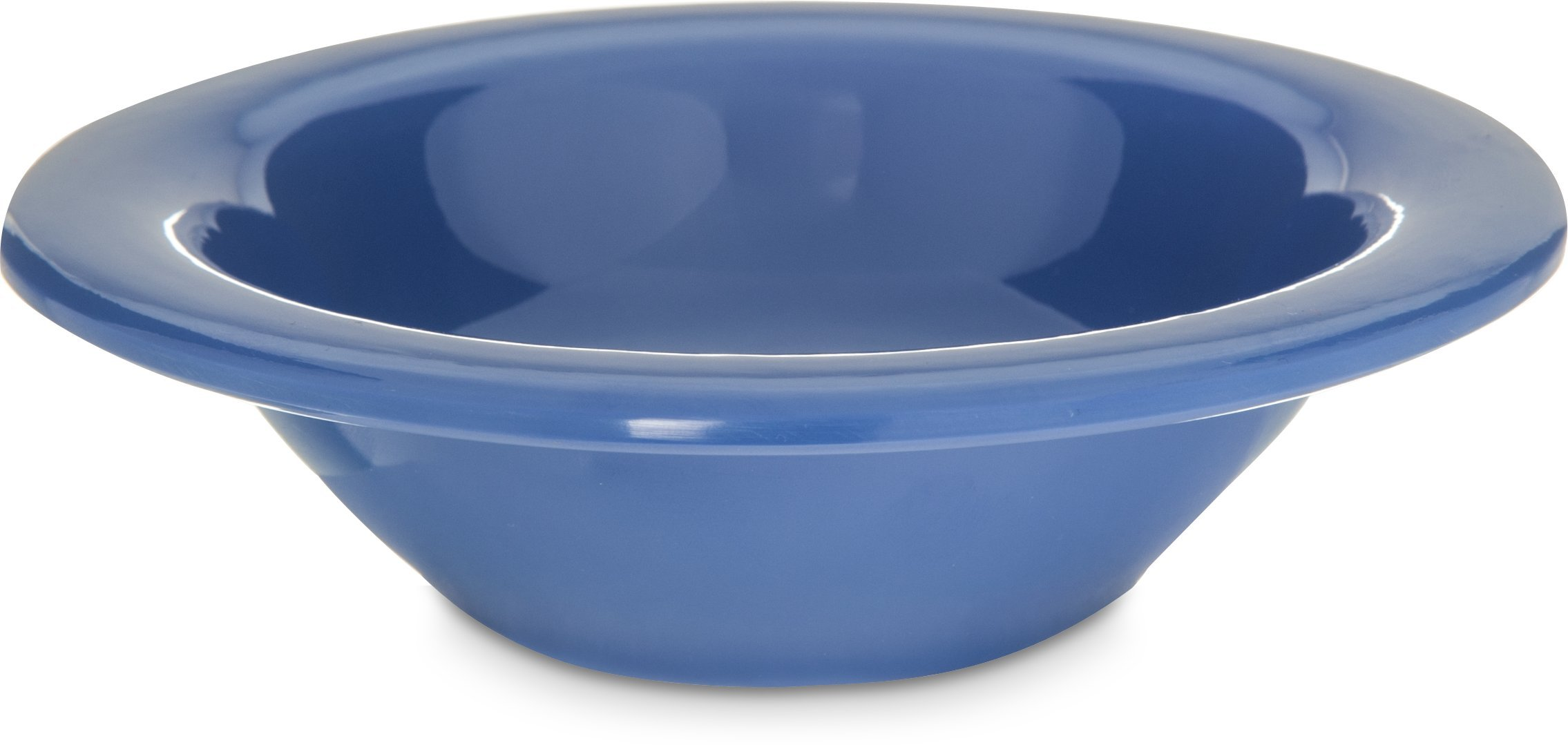 Carlisle 4304214 Durus Rimmed Melamine Fruit Bowl, 4 Oz., Ocean Blue (Pack of 48)
