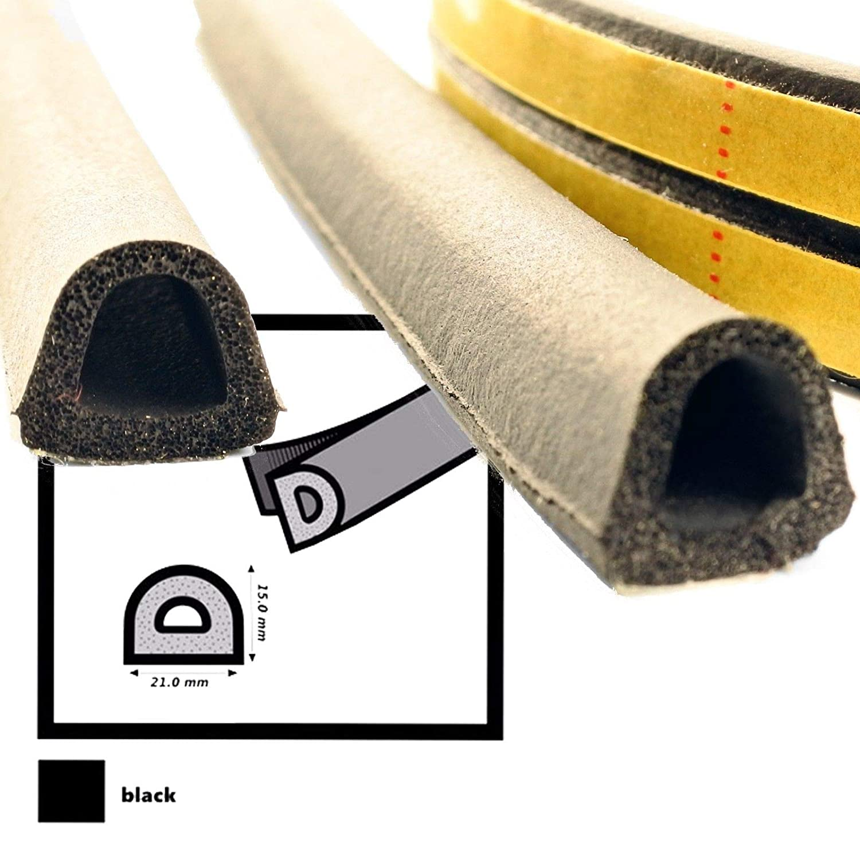 D P E V I Fensterdichtung Türdichtung SELBSTKLEBEND EPDM schwarz weiß braun