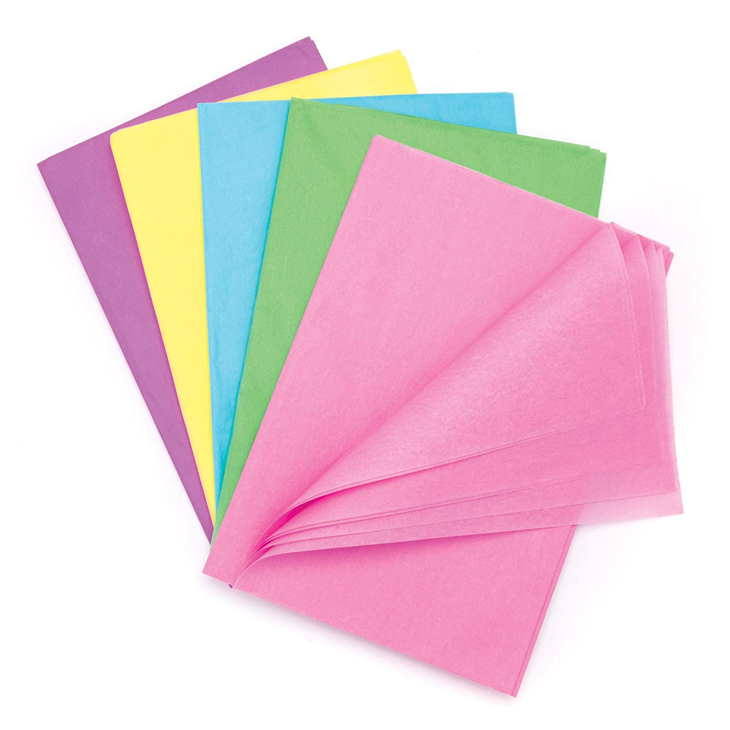 Baker Ross Pastel Tissue Paper Value Pack Perfect for Kids Spring Themed Arts and Crafts Pack of 25