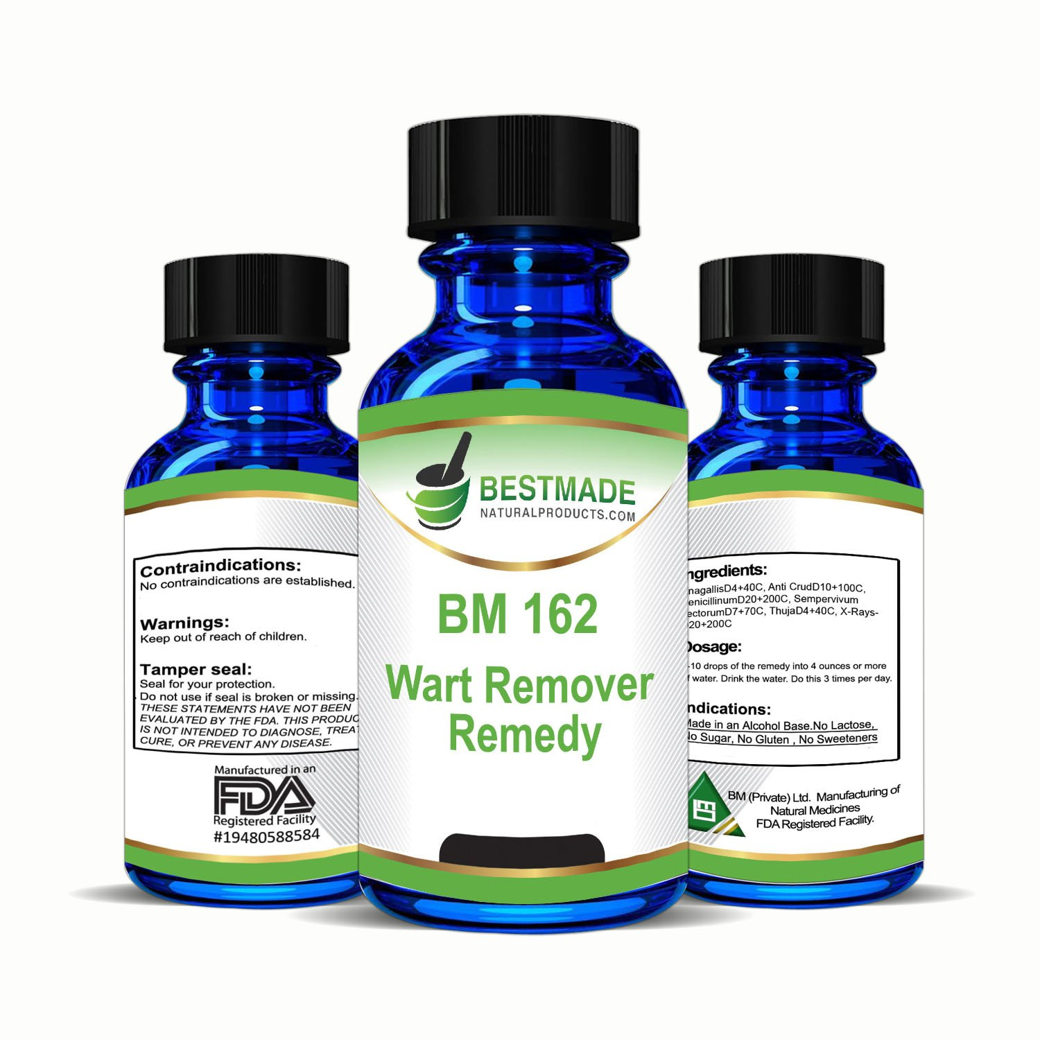 BestMade Natural Products Wart Remover Natural Remedy, Alternative Wart Removal, No Acids or Freezing for Feet, Body, Face and Hands