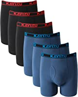 KAYIZU Brand Men's Underwear Ultimate Soft Cotton Boxer Brief (6-Pack)