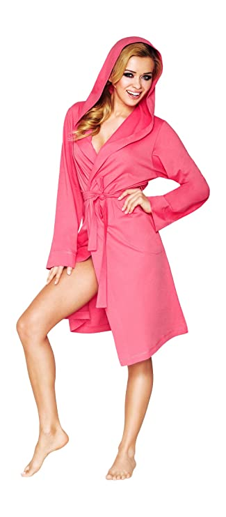 7fd2c791d4 Wanmar Company Womens Luxury Soft Cotton Lightweight Bath Robe Housecoat  Dressing Gown Bathrobe