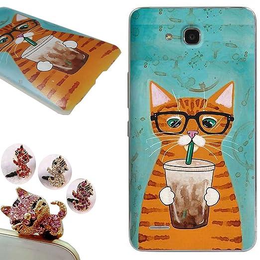 2 opinioni per Huawei Honor 3X Custodia,Huawei Honor 3X Cover, CatStyle [Con Tappi