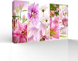 wall26 Canvas Wall Art Colorful Flowers Pictures Home Wall Decorations for Bedroom Living Room Paintings Canvas Prints Framed - 16x24 inches