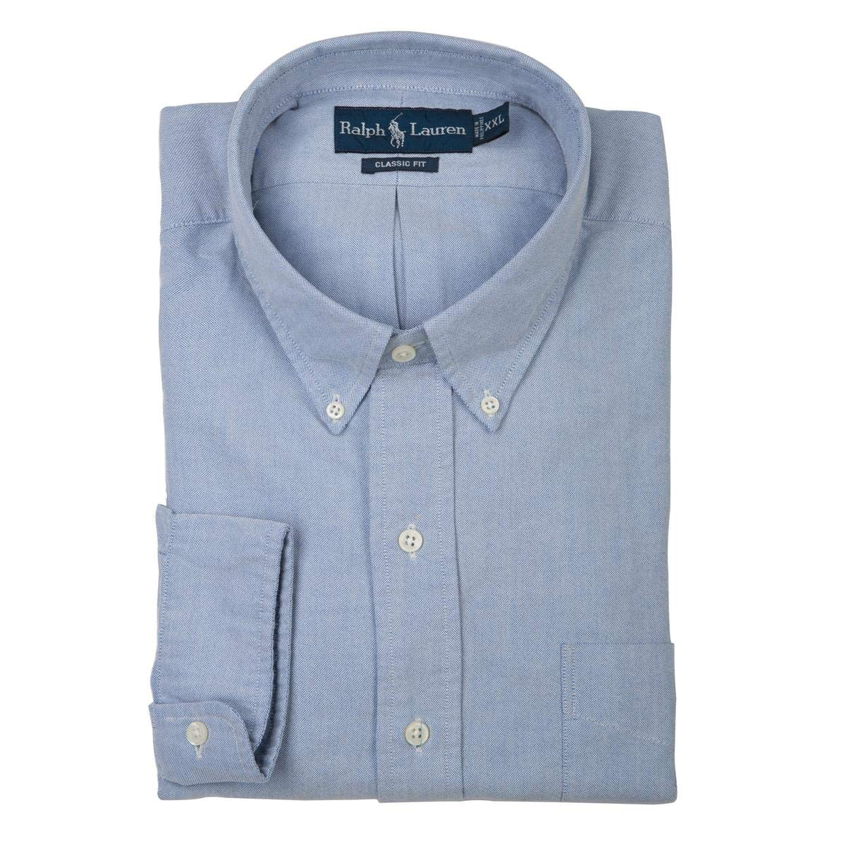 c51ed8e58 Polo Ralph Lauren Classic Fit Oxford Pony Dress Shirt For Men - XXL, Light  Blue: Amazon.ae: vintageframes