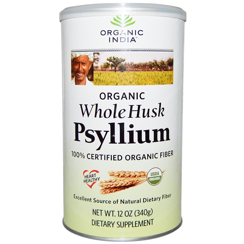 Organic India, Psyllium, Whole Husk, 12 oz (340 g) - 2pc