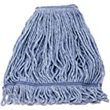 KLEEN HANDLER HEAVY DUTY Commercial Mop Head Replacement, Wet Industrial Blue Cotton Looped End String Cleaning Mop Head…