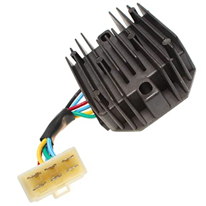 Astounding Amazon Com 12V 6 Wires Voltage Regulator 15531 64601 For Kubota Wiring Digital Resources Helishebarightsorg