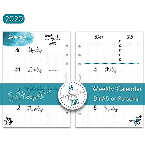 Amazon.com: SinnWunder 2020 Premium – Recambio de calendario ...