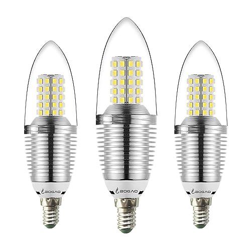 bogao e14 led candelabra bulb base 12w daylight white 6000k led candle bulbs 85 100 watt. Black Bedroom Furniture Sets. Home Design Ideas