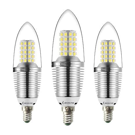 Bombilla LED E14 para Candelabro, de 12W, color blanco,