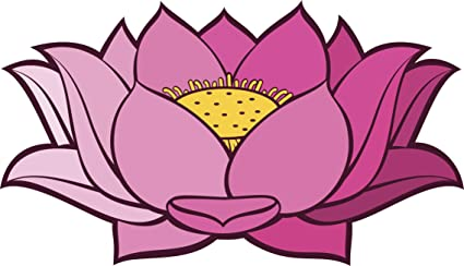 Amazon pretty simple pink ombre lotus flower cartoon vinyl pretty simple pink ombre lotus flower cartoon vinyl decal sticker 12quot mightylinksfo