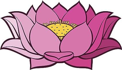 Amazoncom Pretty Simple Pink Ombre Lotus Flower Cartoon Vinyl
