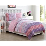 Twin Size Comforter Set in Pink for All Season Comfort 2 Pc Set w/ Sham