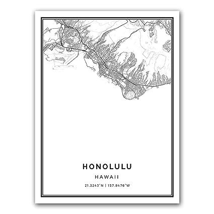 on the modern honolulu map