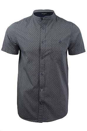 7c9c250d924232 Brave Soul Mens Grandad Shirt Short Sleeved: Amazon.co.uk: Clothing