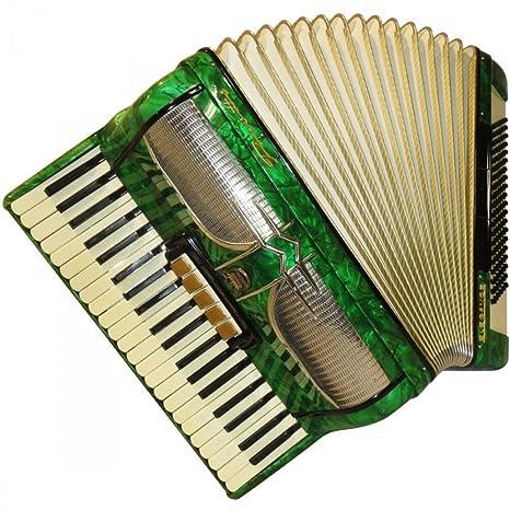 firotti Elegance, 120 Bass + caso, fabricado en Alemania, con teclado acordeón,