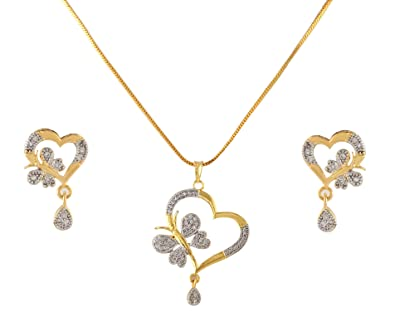 Hearty Women Bollywood Jewelry Necklace Earrings Set Jewelry & Watches
