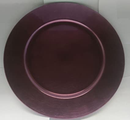 Ashland Light Purple Lavendar Metallic Decorative Charger Plates (Set of 4) & Amazon.com   Ashland Light Purple Lavendar Metallic Decorative ...
