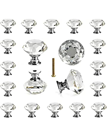25 pcs Glass Cabinet Knobs Crystal Drawer Pulls Clear 30 mm Diamond for  Kitchen 91491cf22904
