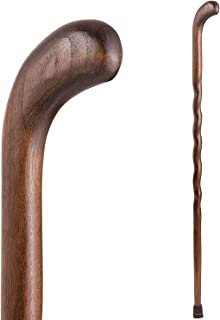 product image for Walking Cane for Men and Women Handcrafted of Lightweight Wood, Walnut, 37 Inch, Pistol
