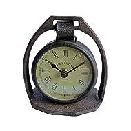 Park Design Vintage Iron Stirrup Table Clock