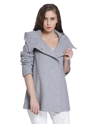 VERO MODA Damen Mantel Vmcollar Wool Jacket Noos, Grau (Light Grey Melange  Light Grey