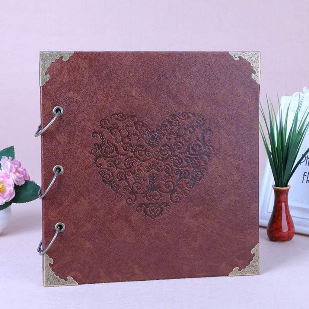 Nuonyerg Custom Wedding Guest Book ,Heart-Shaped Leather Cover Scrapbook DIY Photo Album,Perfect as Wedding Guest Book by Nuonyerg (Image #4)