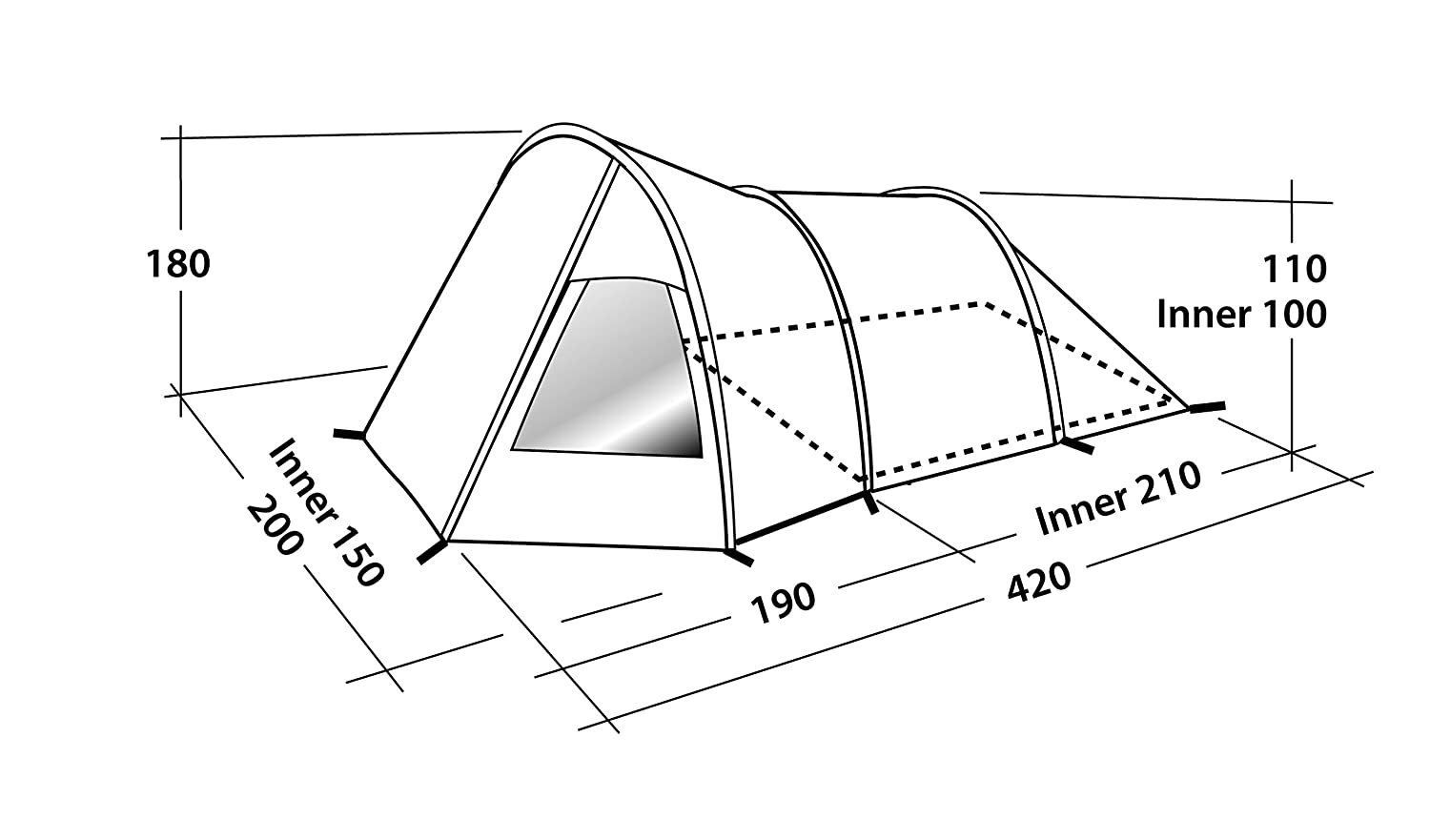 Amazon Easy Camp Blizzard 300 3 Man Tent Greyblue Sports