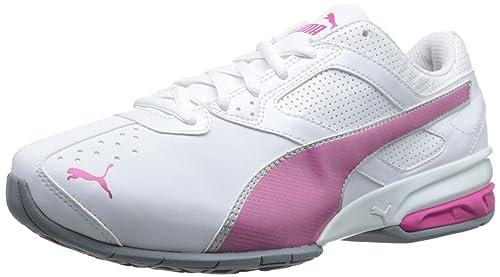 official photos d1f98 55f2a PUMA Women s Tazon 6 Wide Women s Training Shoe, White Fluorescent Pink Puma  Silver