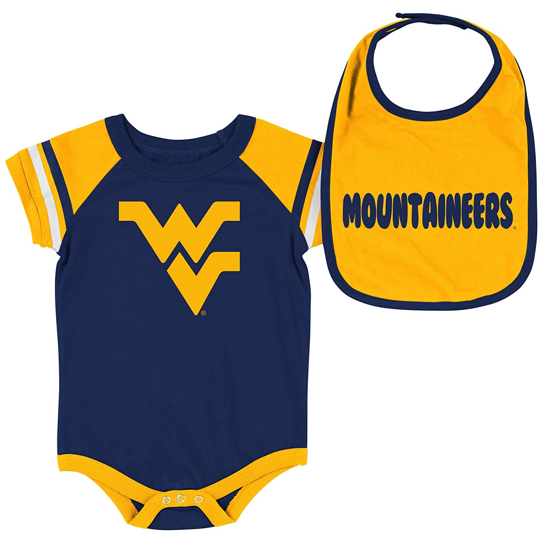 【在庫あり】 Colosseum Months NCAA-Roll Out- ベビー半袖ボディスーツとお揃いのよだれかけ B07GTSS7PN 2パックセット - 0-3 新生児と幼児サイズ B07GTSS7PN ウェストバージニアマウンテニア 0-3 Months 0-3 Months|ウェストバージニアマウンテニア, TResor-clothes:889a912f --- movellplanejado.com.br