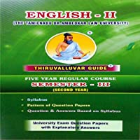 English - II (For Second Year in 5 Year Law Course)