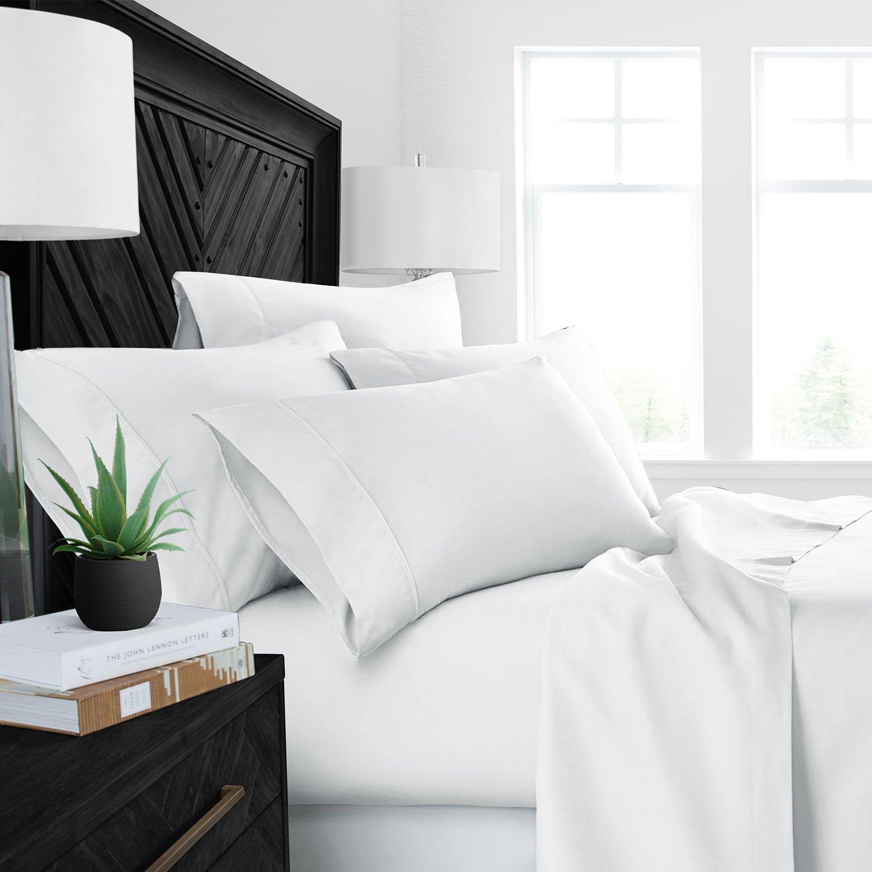 睡眠回復 豪華ベットシーツ 天然アロエベラ加工済み環境に優しい、低刺激性 心地良いシーツ4点セット/アロエベラ保湿 フル ホワイト RG-SRALOESHEET-F-WHT B0756KF1VX フル|ホワイト ホワイト フル