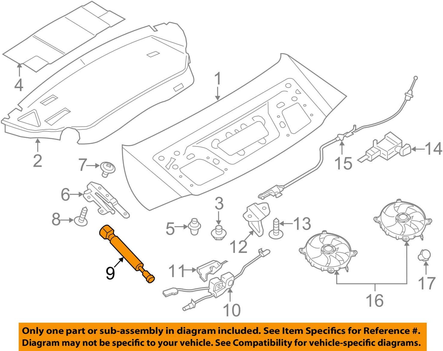 porsche 991 engine diagram amazon com porsche 991 512 551 00  deck lid lift support automotive  porsche 991 512 551 00  deck lid lift