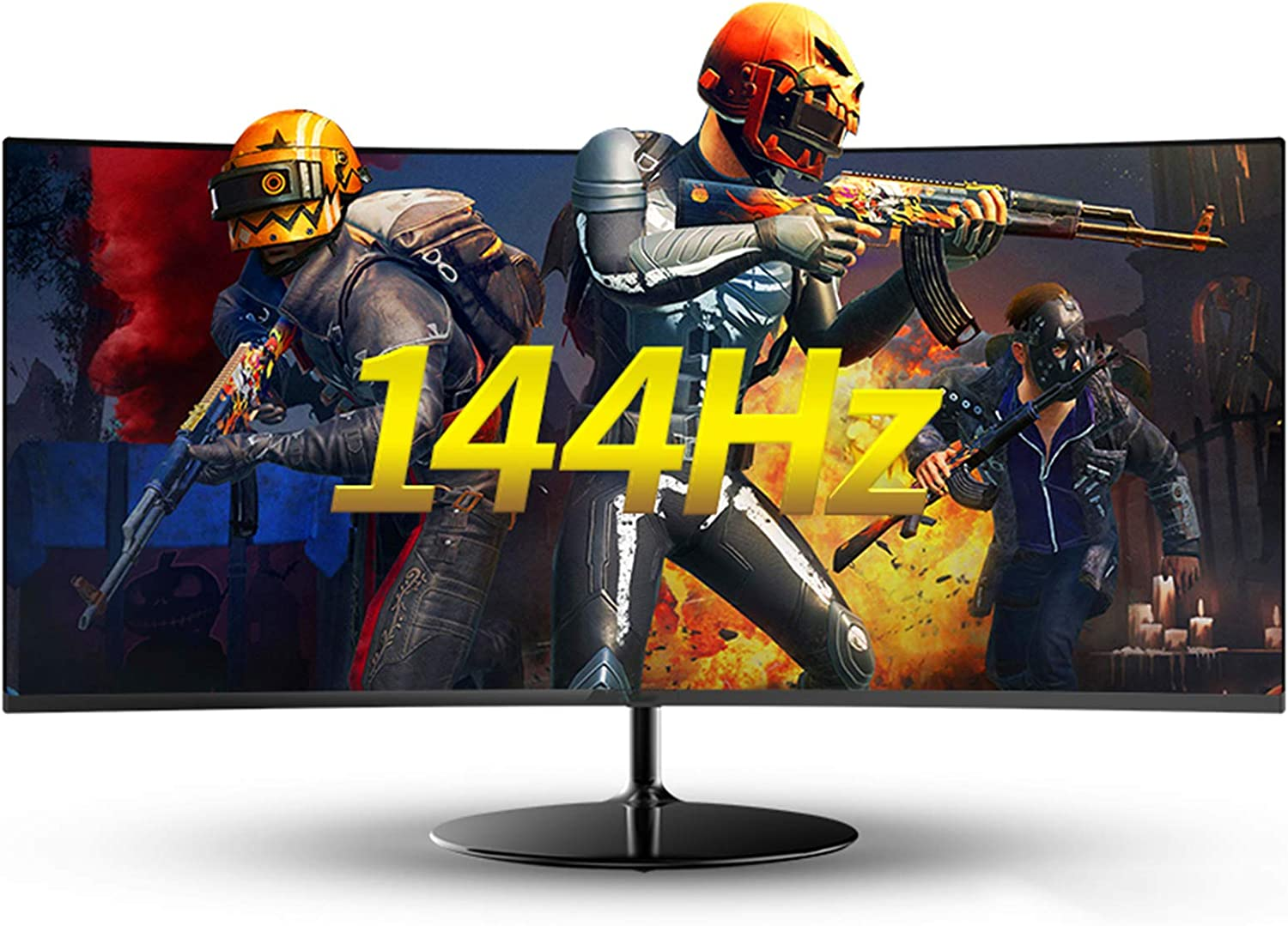 ZZYH 34 Inch Full HD (34401440) Monitor, 144Hz, 1ms, 2HDMI, 2DP, Eye Protection Borderless VA Curved Screen, Multifunctional Lifting Pitching Adjustment Bracket